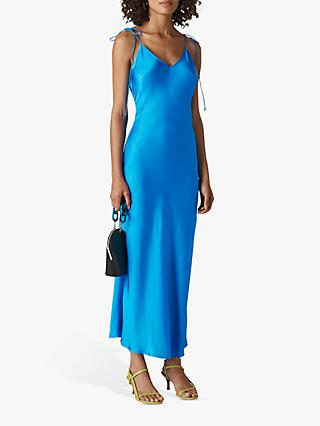 Whistles Dagma Slip Dress, Blue