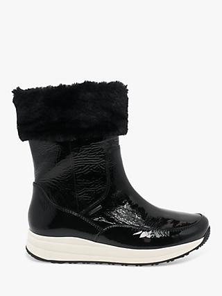 Gabor Greenwich Weatherproof Wedge Heel Faux Fur Boots