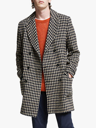 Buy Wax London RoS Overcoat , Tiff Houndstooth, S Online at johnlewis.com