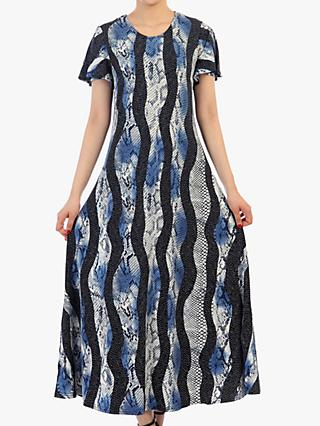 Jolie Moi Print Cap Sleeve Maxi Dress, Navy/Multi
