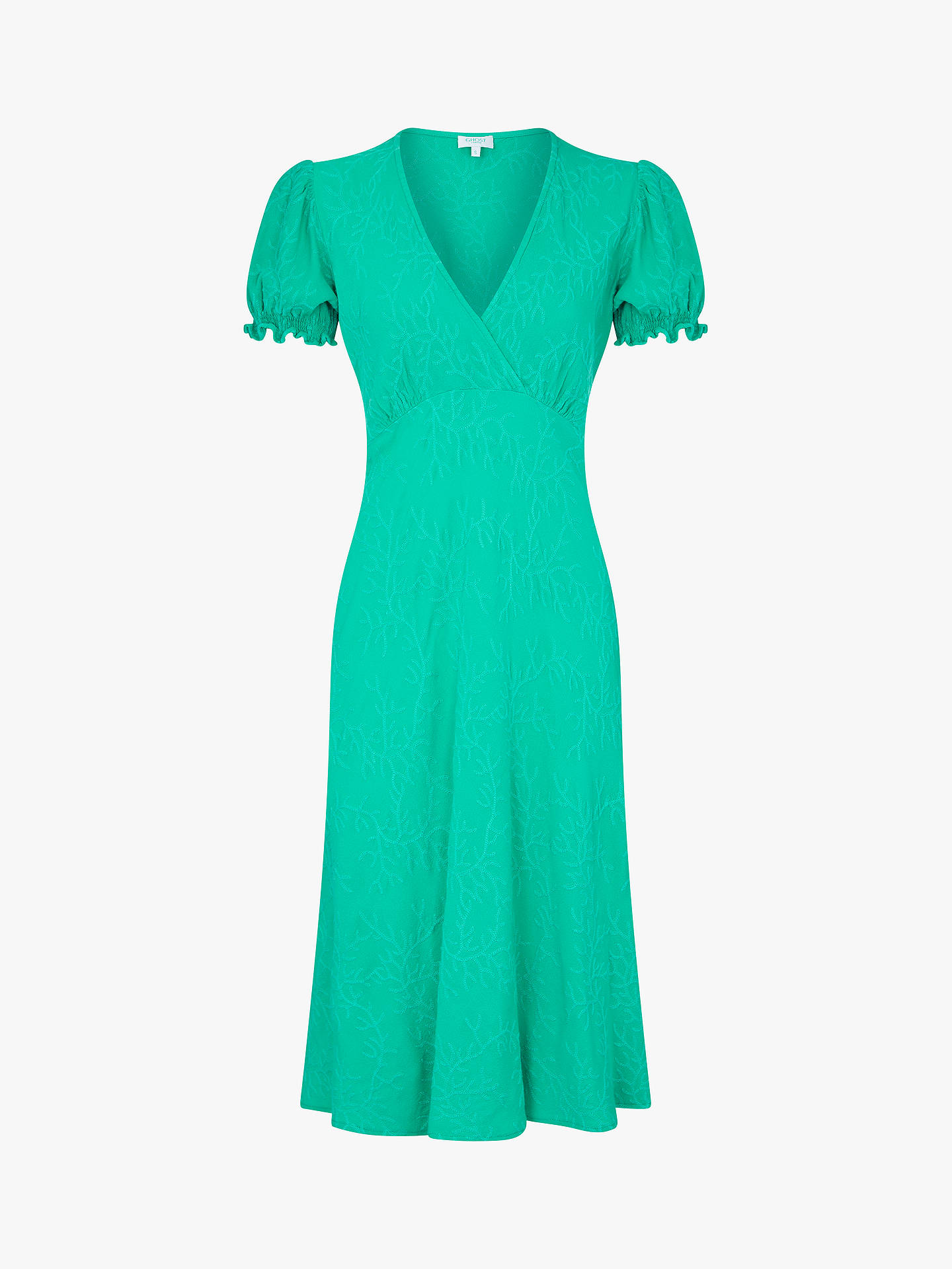 Buy Ghost Jemima Dress, Green, XS Online at johnlewis.com