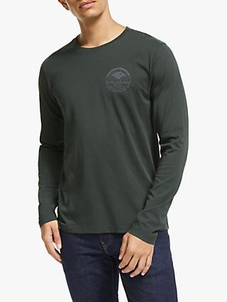 Fjällräven Forever Nature Logo Long Sleeve T-Shirt, Navy