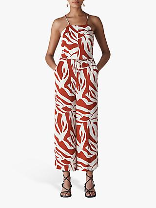 Whistles Zebra Print Jumpsuit, Multi