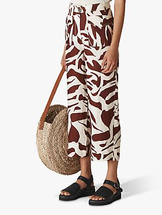 Whistles Zebra Cargo Trousers, Multi