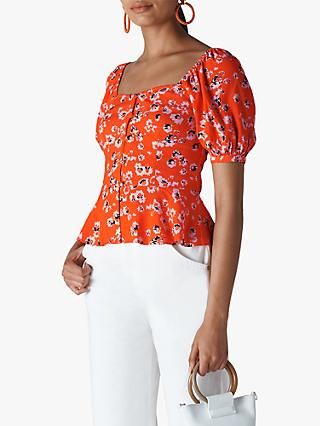 Whistles Digital Daisy Top, Flame