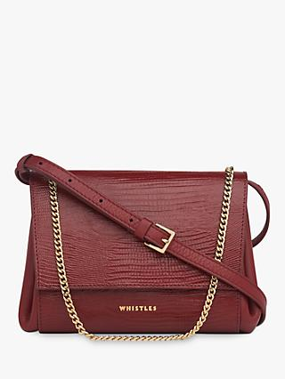 Whistles Eleni Lizard Leather Cross Body Bag