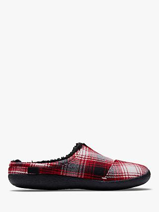TOMS Berkeley Plaid Slippers, Red