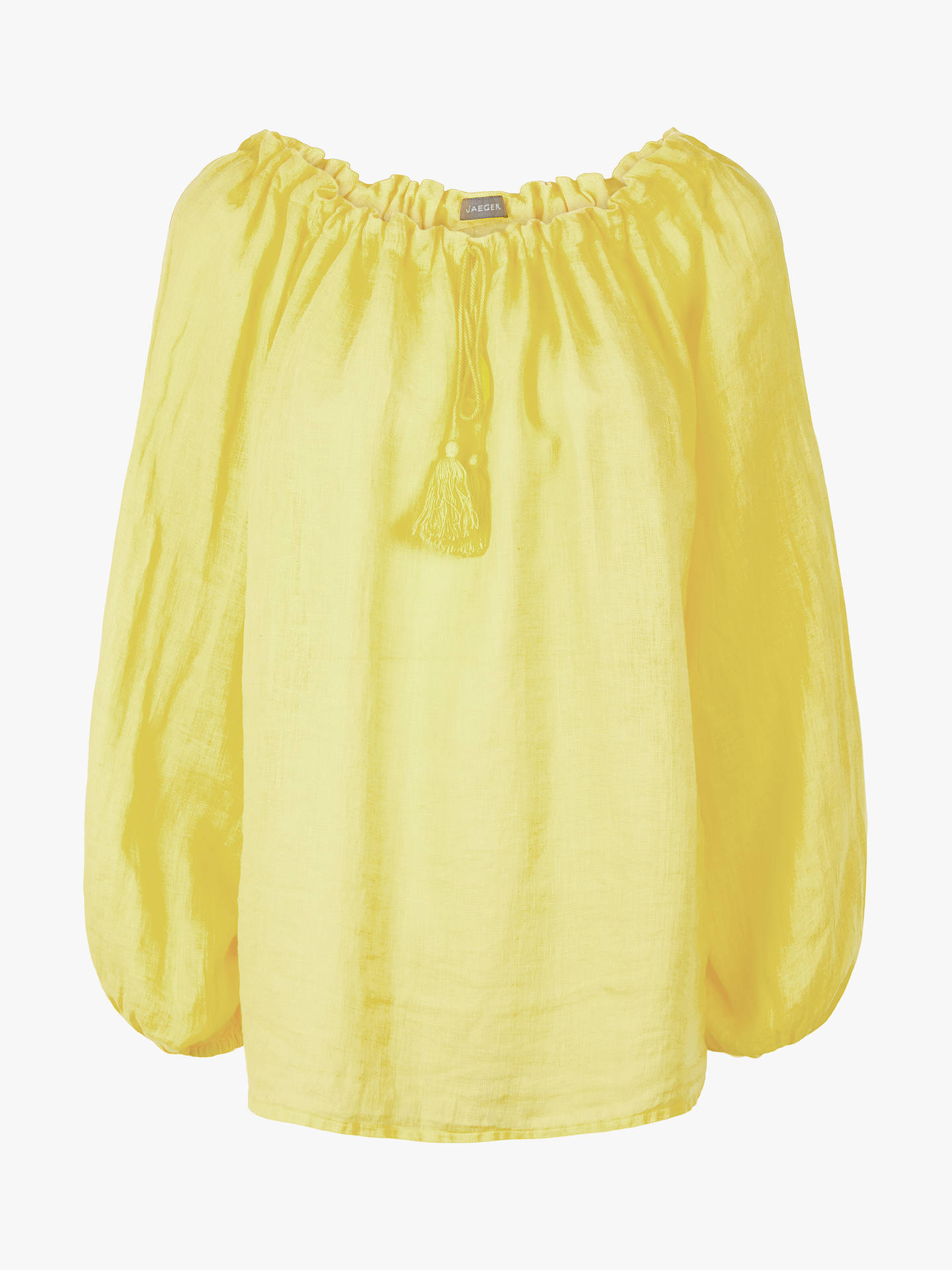 Buy Jaeger Gauze Linen Tunic, Yellow, 10 Online at johnlewis.com