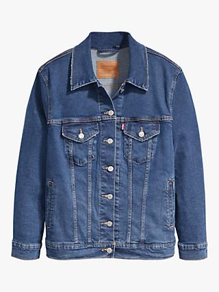 Levi's Plus Ex-Boyfriend Trucker Jacket, Groovemarks Plus