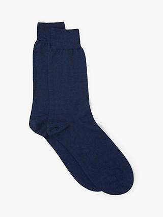 John Lewis & Partners Made in Italy Cotton Cashmere Silk Socks