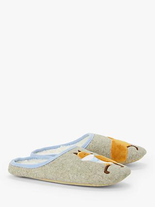 John Lewis & Partners Fox Mule Slippers, Natural