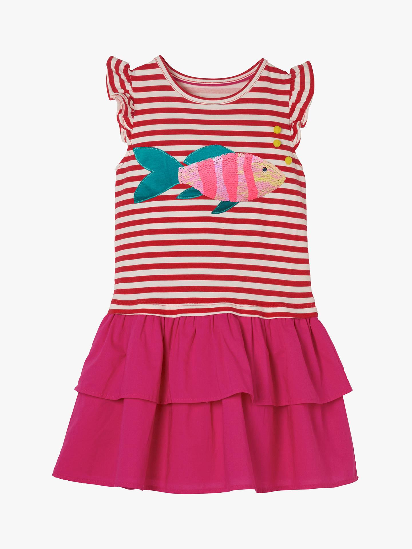 7d0191dc Buy Mini Boden Girls' Fish Sequin Dress, Red, 3-4 years Online ...
