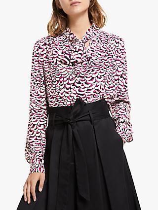 Somerset by Alice Temperley Feather Print Blouse, Pink