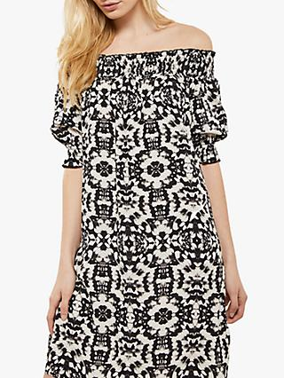 Mint Velvet Khloe Print Bardot Dress, Multi