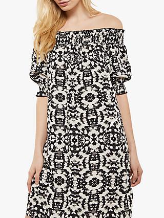 8b9e86b8b41 Mint Velvet Khloe Print Bardot Dress