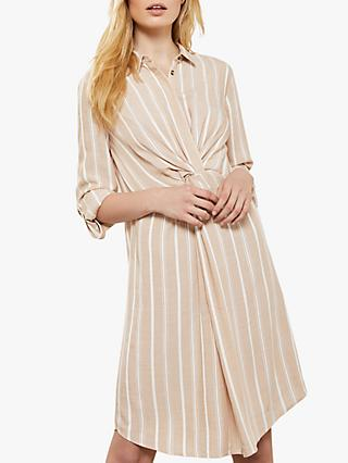 Mint Velvet Twist Stripe Dress, Stripe