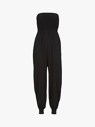 Mint Velvet Stretchy Jumpsuit, Black