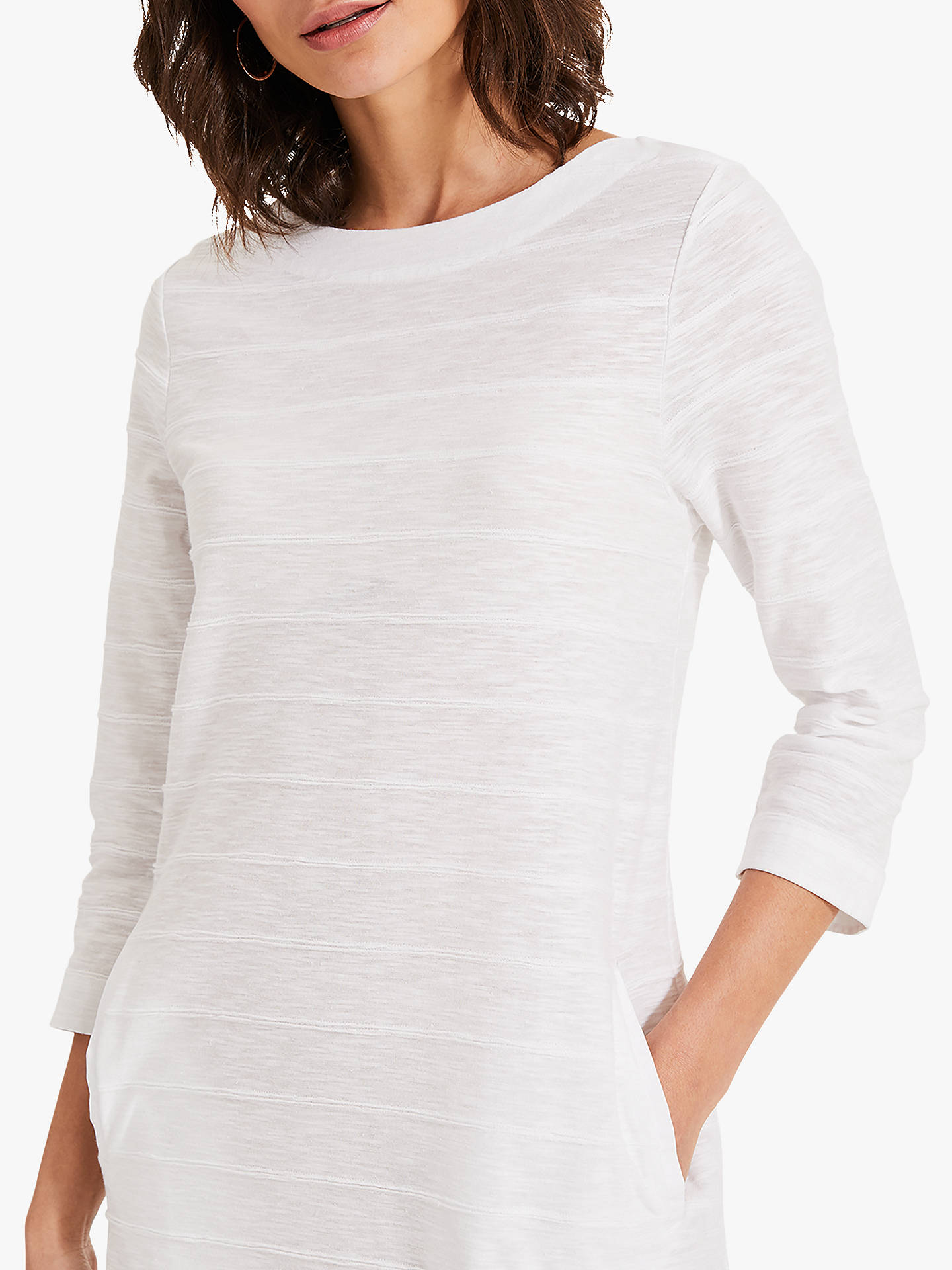 Buy Phase Eight Reina Ripple Cotton Dress, Ivory, 6 Online at johnlewis.com