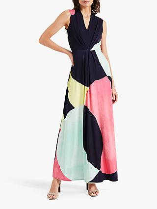 Phase Eight Gabrielle Geometric Print Maxi Dress, Multi