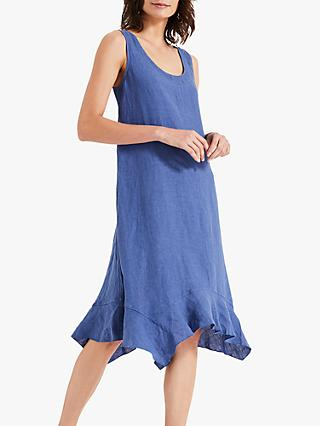 Phase Eight Beverley Linen Dress, Cornflower