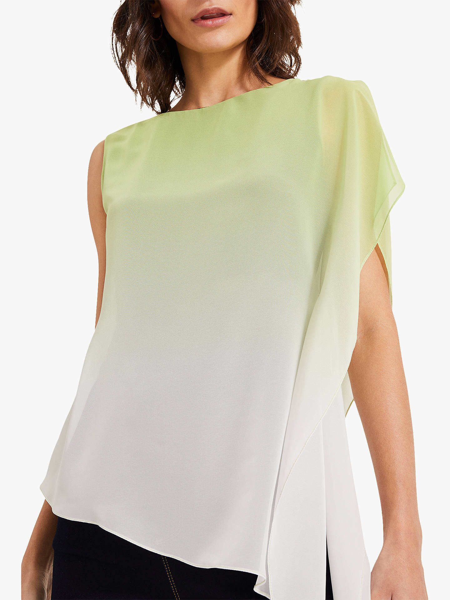 c51dfbb8 ... Buy Phase Eight Camille Ombre Chiffon Top, Lime, 8 Online at  johnlewis.com ...