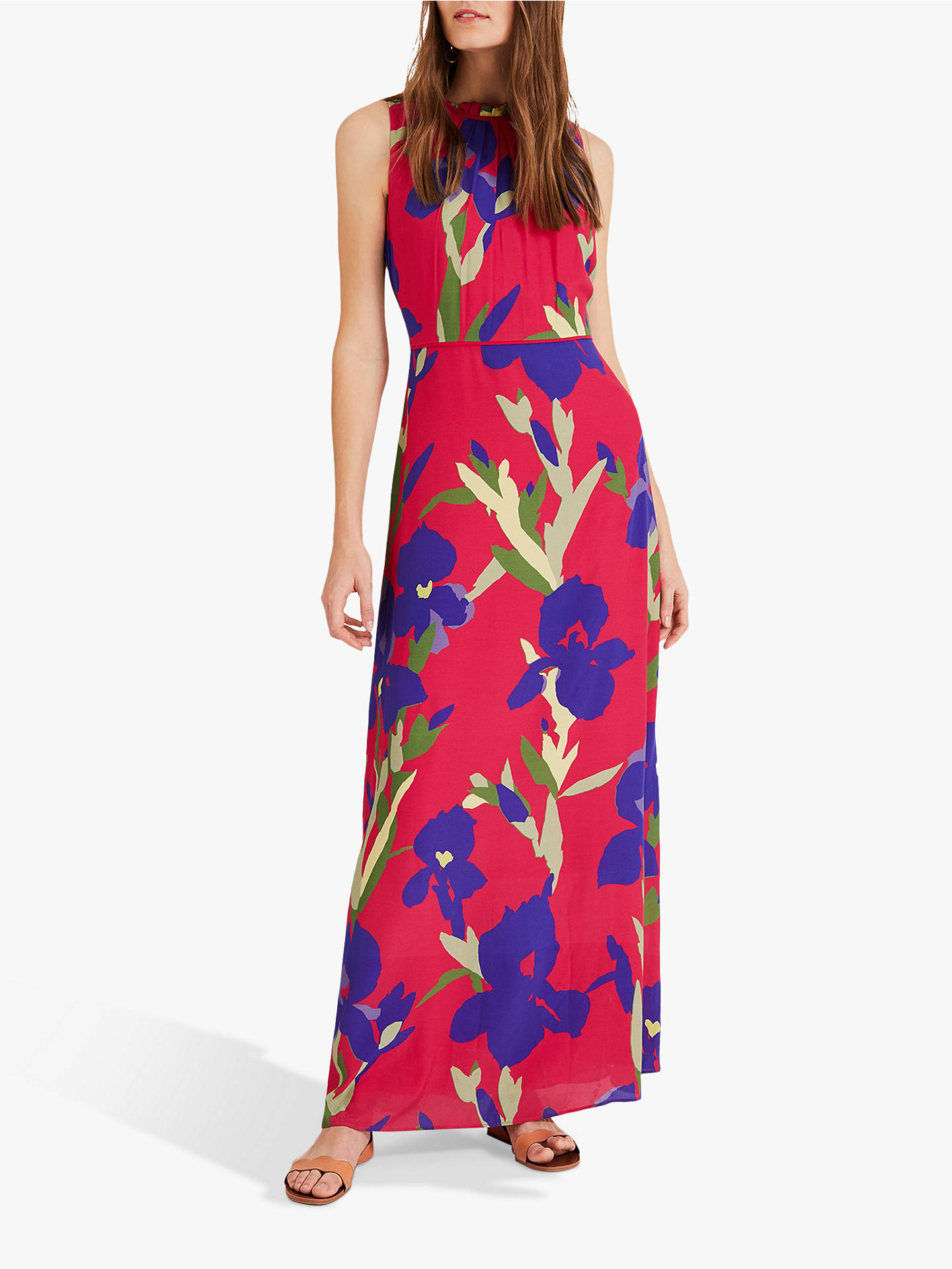e5af40b909236 Buy Phase Eight Silvana Maxi Dress, Hot Pink, 6 Online at johnlewis.com ...