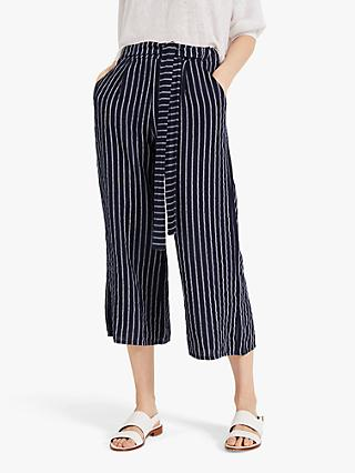 Phase Eight Tempo Stripe Trousers, Navy