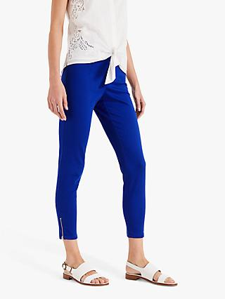 Phase Eight Amina Zip Detail Jeggings, Cobalt