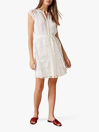 Phase Eight Pip Leaf Dress, Ivory