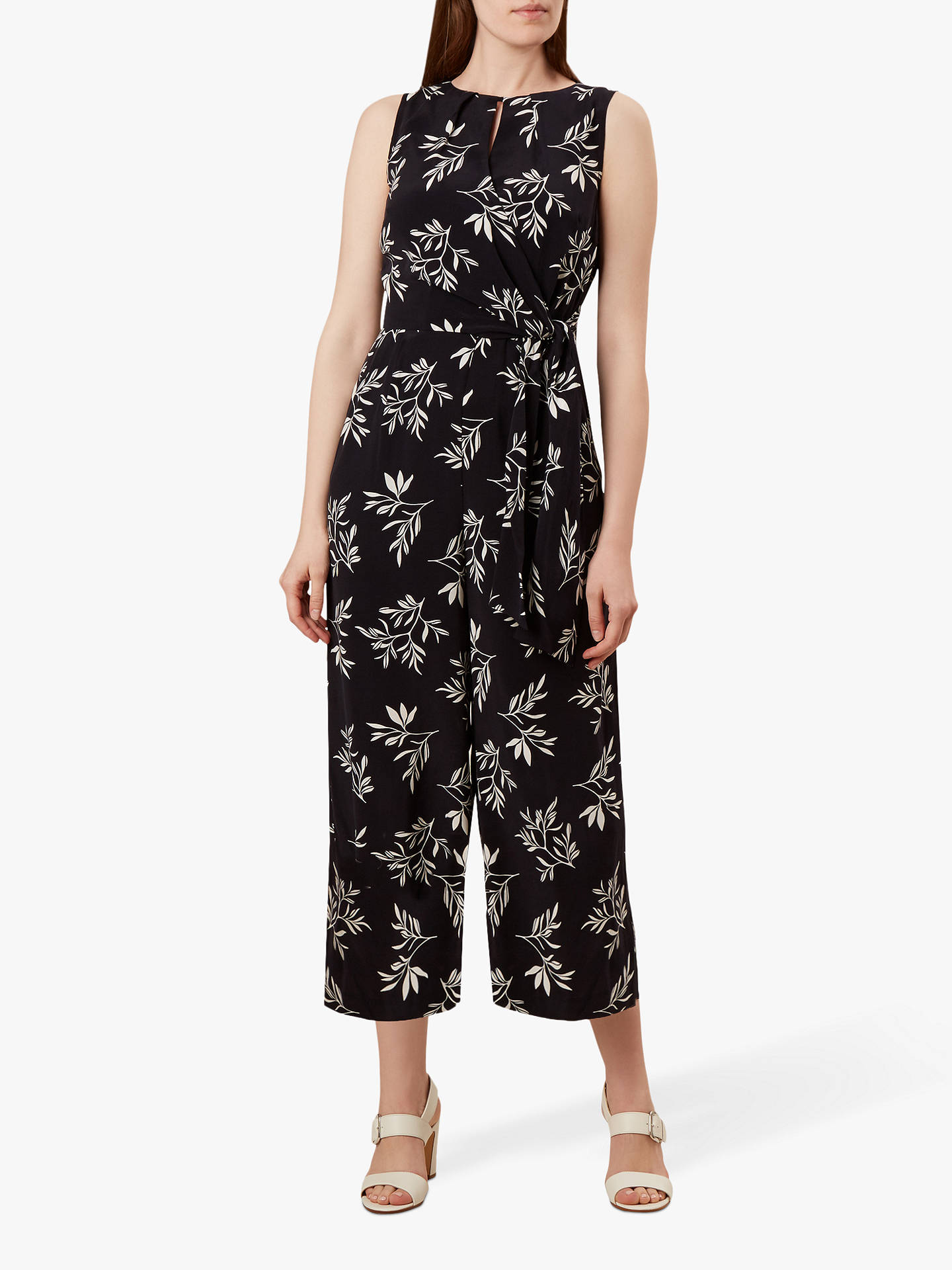 best quality for wide selection of colours and designs great look Hobbs Lisa Leaf Jumpsuit, Navy/Ivory