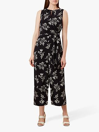 Hobbs Lisa Leaf Jumpsuit, Navy/Ivory