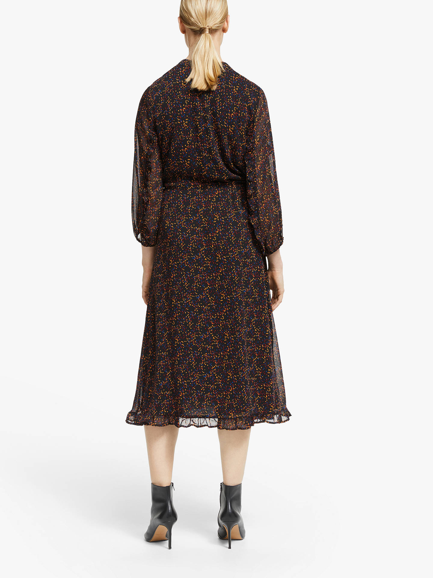 Buy Gestuz Almina Printed Dress, Black Multi, 8 Online at johnlewis.com