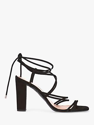 Mint Velvet Tia Suede Strappy Heeled Sandals, Black