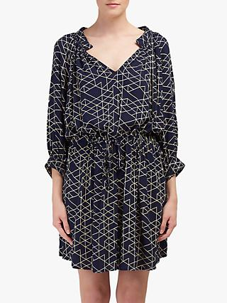 Velvet by Graham & Spencer Morgan Quilt Print Dress, Navy