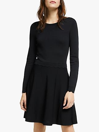 Y.A.S Becca Long Sleeve Knitted Dress, Black