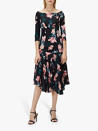 Coast Lauren Floral Pleat Detail Dress, Multi