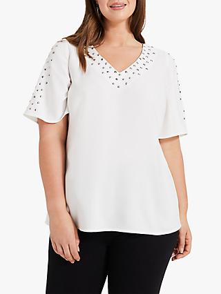 Studio 8 Safa Studded Top, Ivory