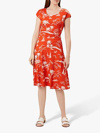 Hobbs Matilda Dress, Mango White