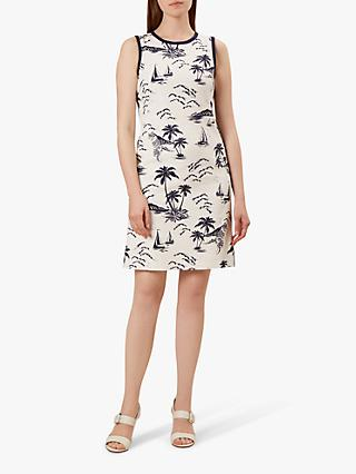 Hobbs Elinor Shift Dress, Ivory/Navy