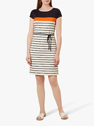 Hobbs Ada Stripe Dress, Navy Multi