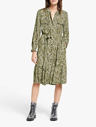 AND/OR Layla Snake Print Shirt Dress, Green