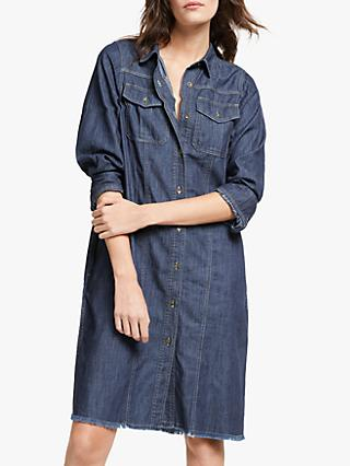 AND/OR Georgia Denim Shirt Dress, Blue