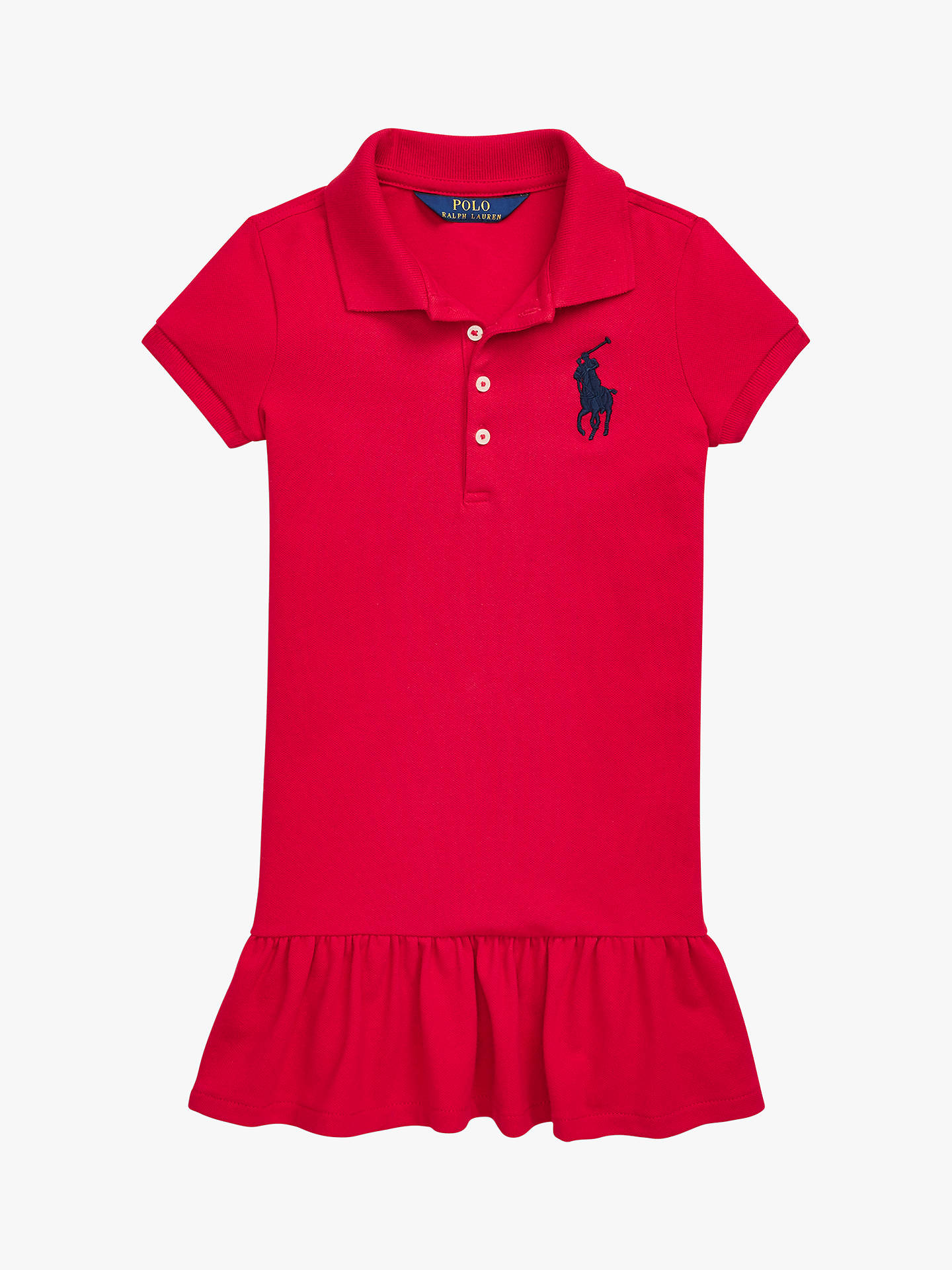 dbc9e301d Buy Polo Ralph Lauren Girls' Polo Dress, Red, 2 years Online at johnlewis  ...