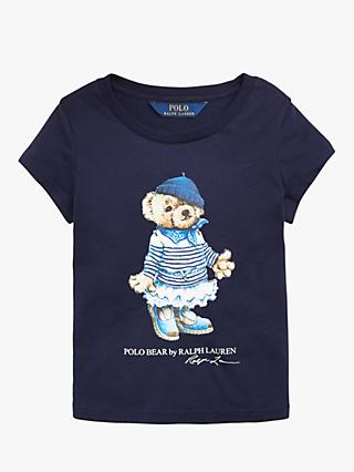 a4bc5b764 Polo Ralph Lauren Girls  Bear Print T-Shirt