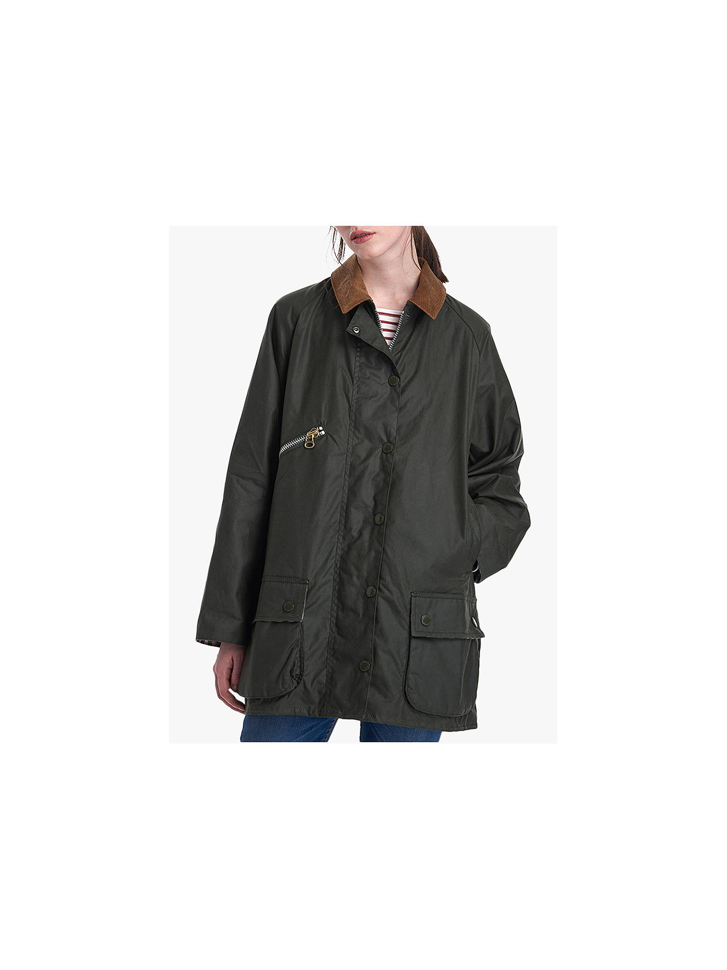 Barbour By Alexachung Edith Waxed Jacket, Duffle/Northumberland by Barbour