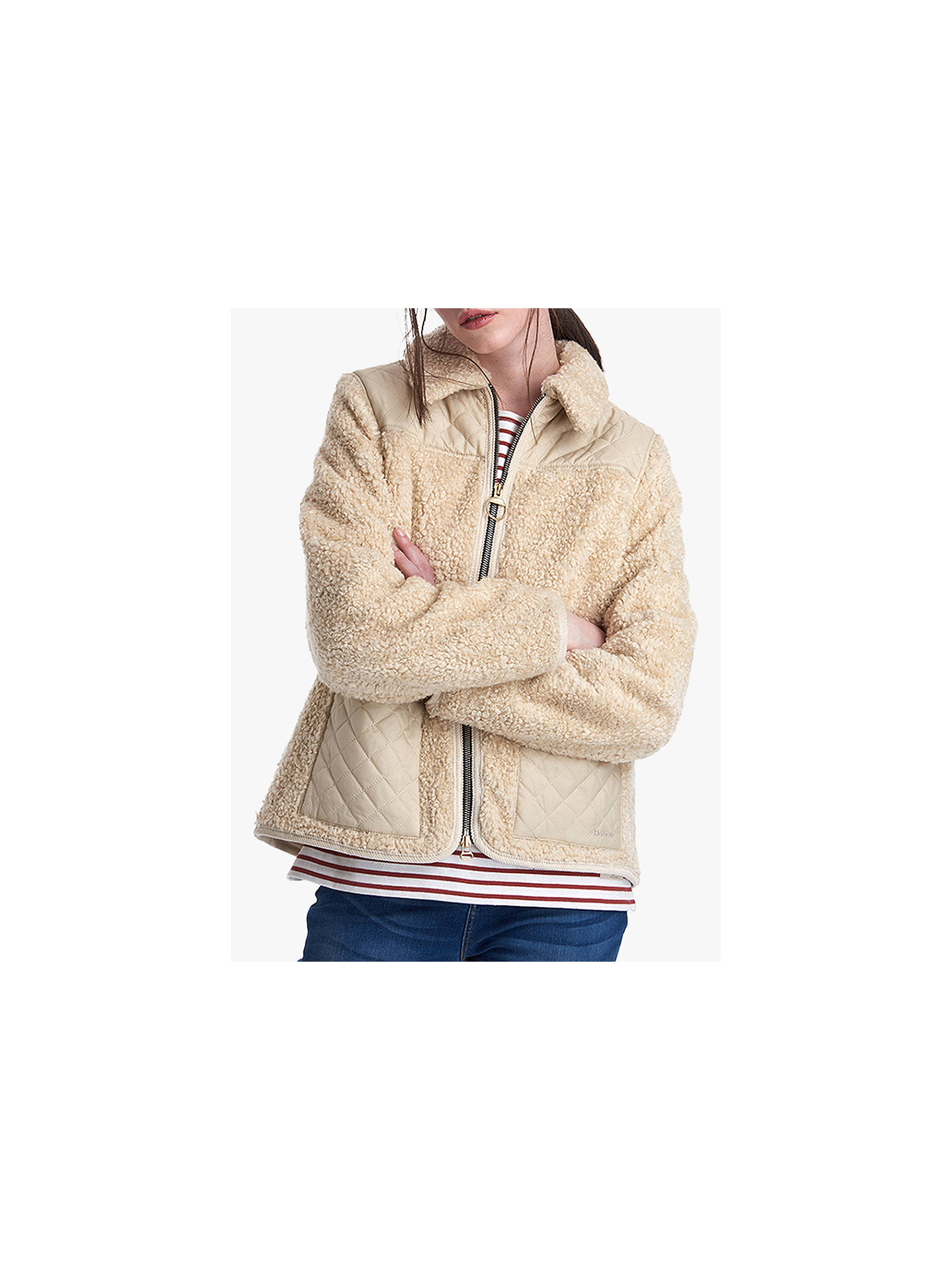 Barbour By Alexachung Hazel Casual Jacket, Natural/Pearl by Barbour