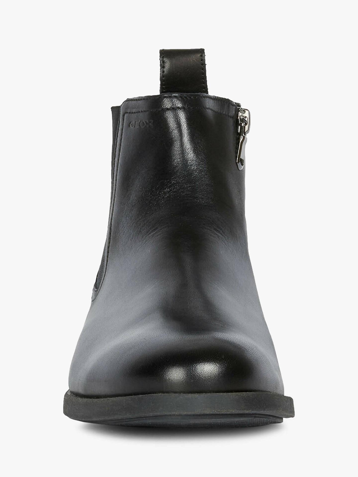 Geox Kaspar Leather Chelsea Boots, Black