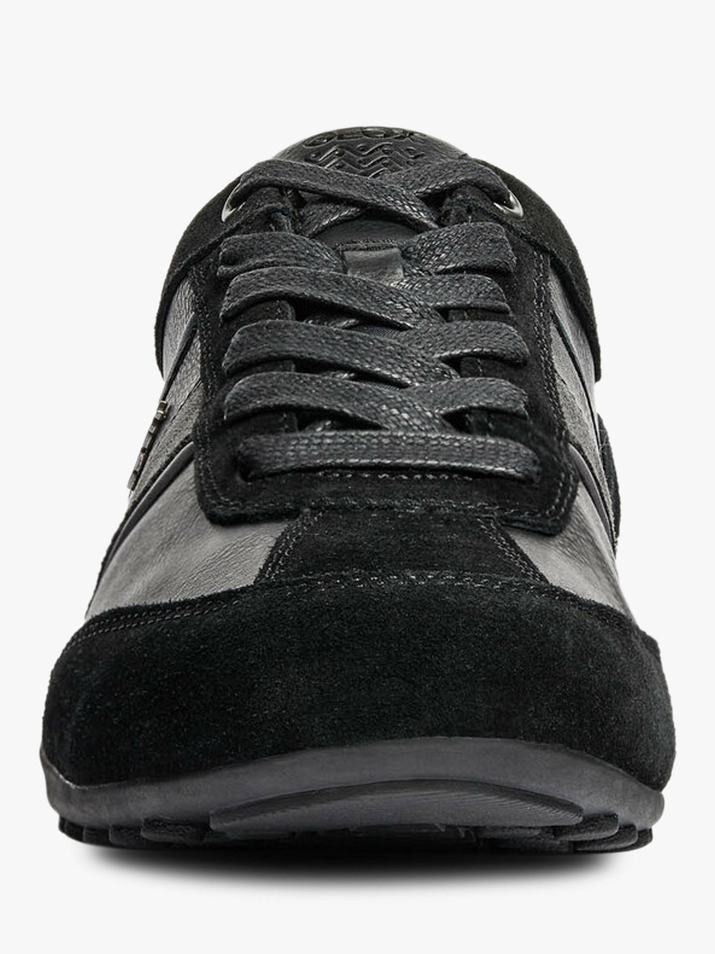 Buy Geox Wells Leather Trainers, Black Mutli, 9 Online at johnlewis.com