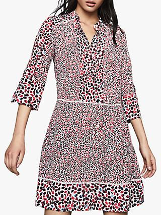 Reiss Anush Border Print Dress, Red