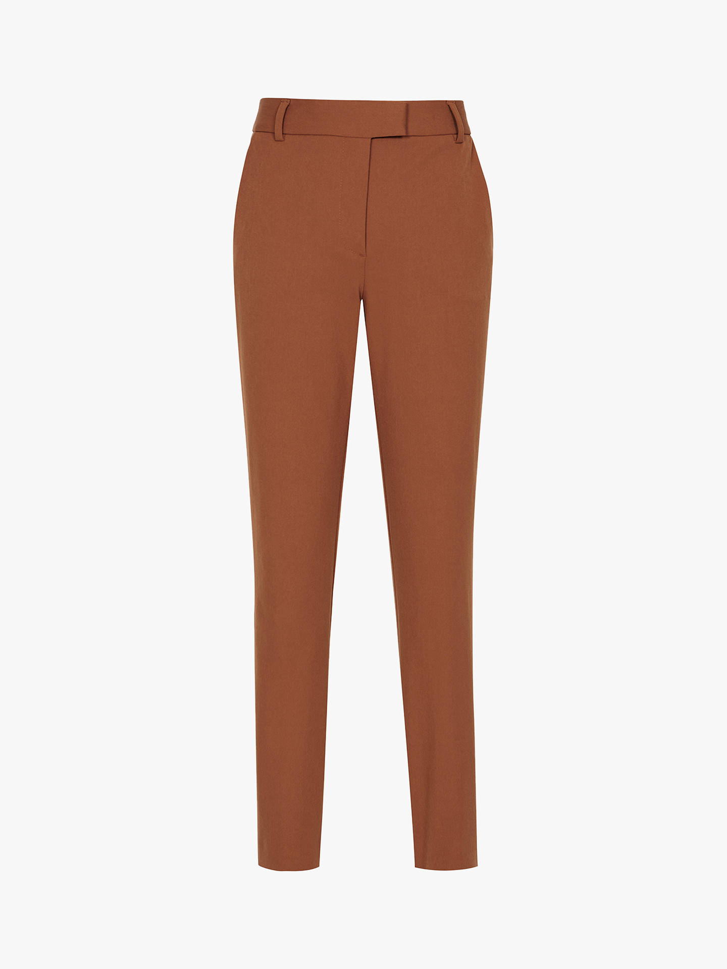 Buy Reiss Joanne Casual Straight Trousers, Rust, 6 Online at johnlewis.com